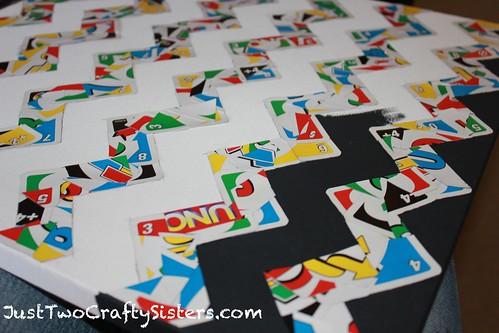 Uno Card Chevron Art