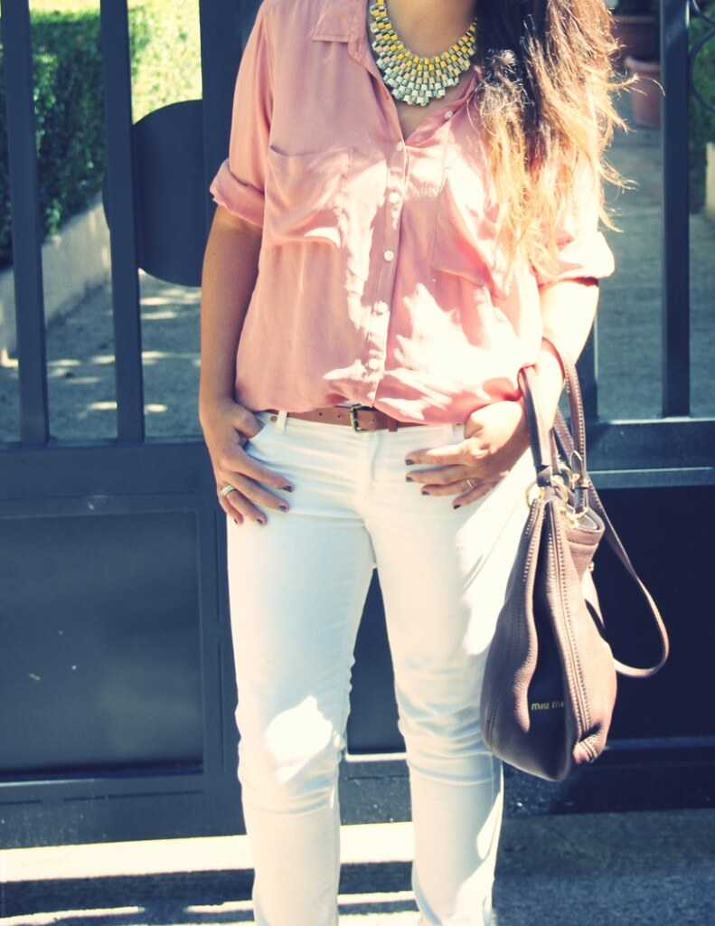Camisa salmón + white