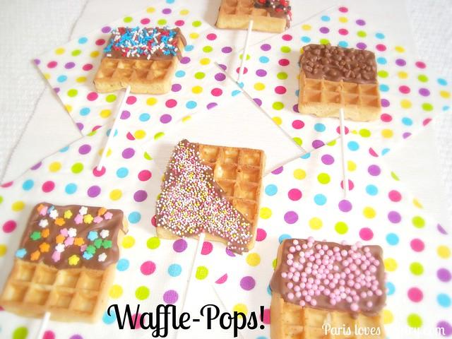 Chocolate Waffle Pops!