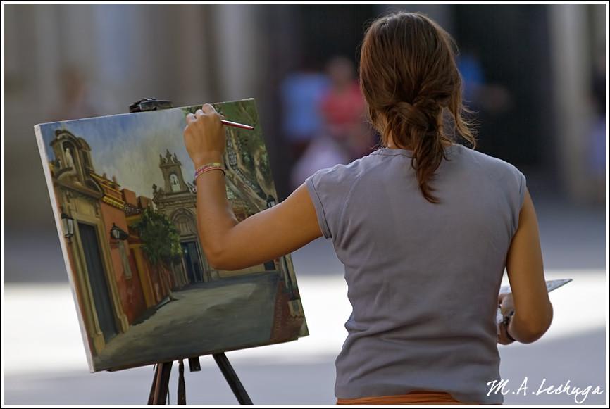 Pintando en San Lorenzo