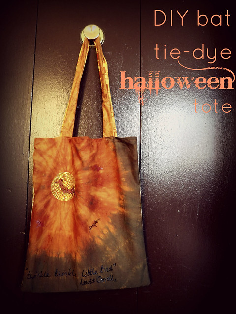 DIY Halloween tote featuring Tulip tie dye paints
