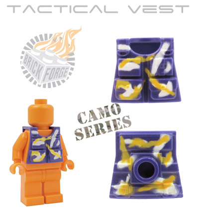 Tactical Vest - Dark Purple (camouflage)