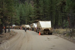 Road work near Yellow Pine