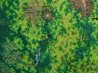 Middle-earth map. Fragment Erebor