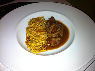 Spaguetti con carne de ternera (Menú infantil)