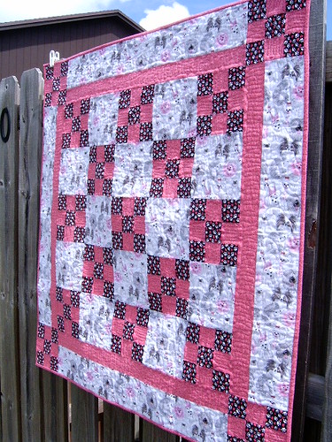 Pretty Pooches Nine Patch Quilt