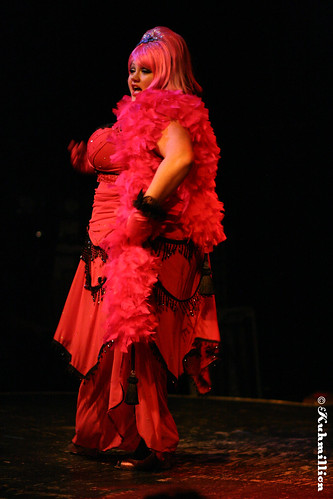 Burlesque performer Ginger Snaps - Austin Texas