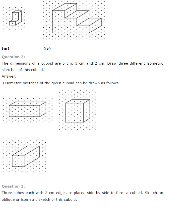 NCERT Solutions for Class 7 Maths Chapter 15 – Visualising Solid ...