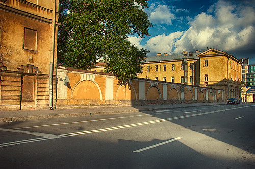 The light and the shadow on streets of Saint-Petersburg by dyadyavasya