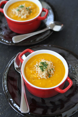 Roasted Sweet Potato Soup with Quinoa Recipe (Dairy-Free) by Cookin' Canuck