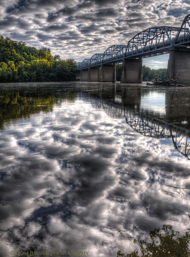 road bridge usa tree water clouds sunrise reflections river virginia landscapes nikon potomacriver loudouncounty tomlussier