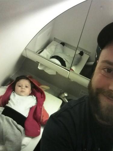 Spezialwickelung im Flugzeugklo