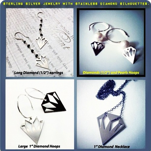 Win some #diamond jewelry. Go to my Facebook page -blugrndesign - and tag yourself on your favorite piece. Winner chosen at random and announced on Friday! Good luck! by blugrn