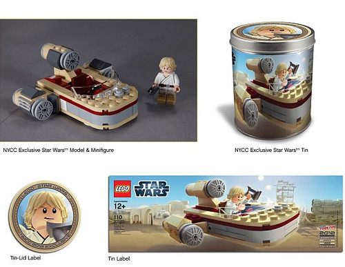 NYCC 2012 LEGO Exclusive Luke Skywalker's Chibi Landspeeder