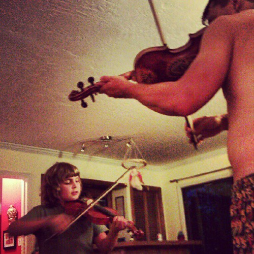 I just fell in love all over again. #violin #waldorf #home #son