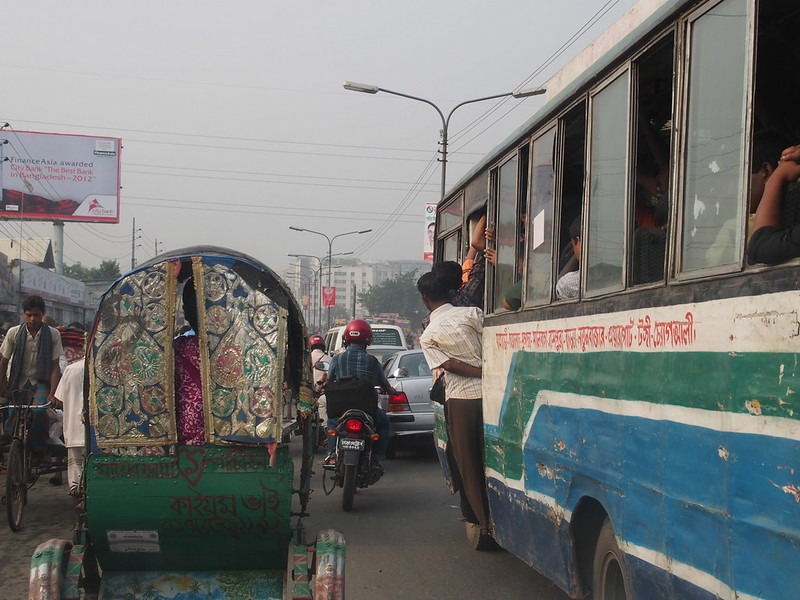 Traffic jam in Dhaka