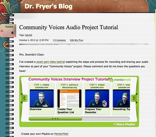 Community Voices Audio Project Tutorial