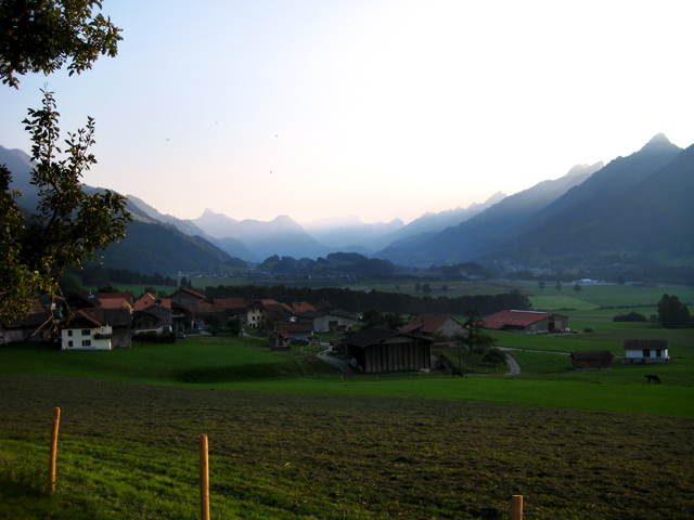 View of the Pays d'Enhaut (high country) mountains