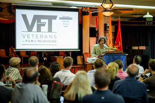 A guest speaker addresses VFT members
