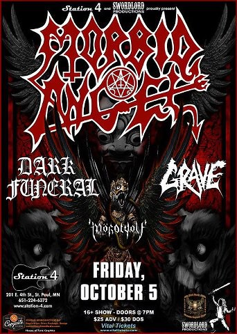 10/05/12 Morbid Angel/ Dark Funeral/ Grave @ Station 4, St. Paul, MN