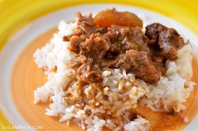 Pork Ribs Adobo Rice