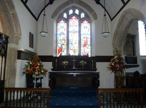 Inside Boconnoc Church, Cornwall