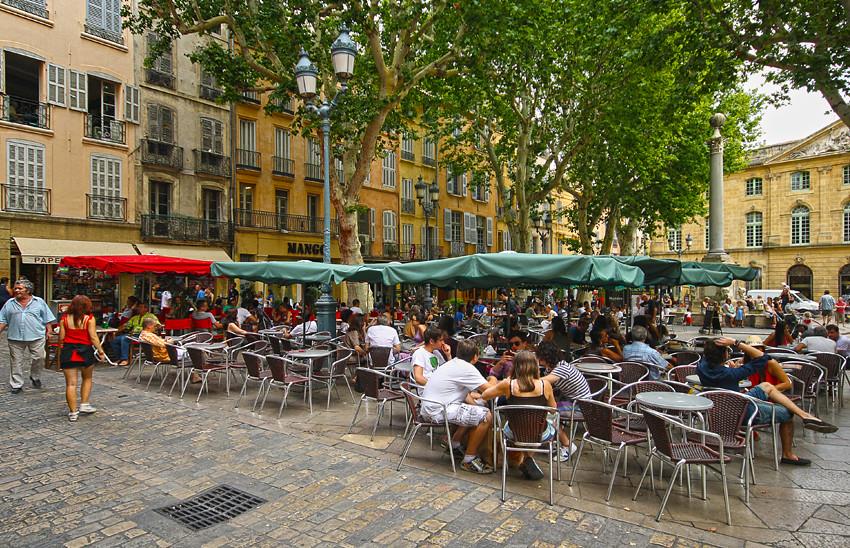 Terraza en la Plaza del Hôtel de Ville