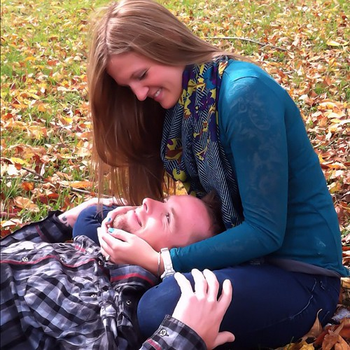 P & Keith. #couple #fall  #autumn #leaves