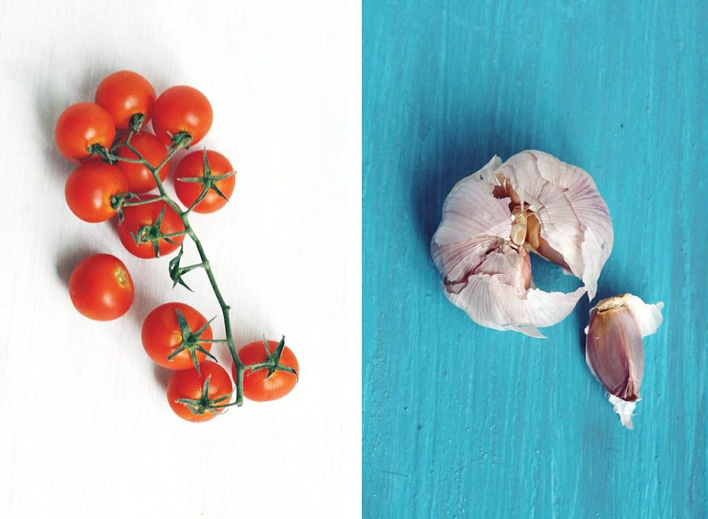 roasting a tomato