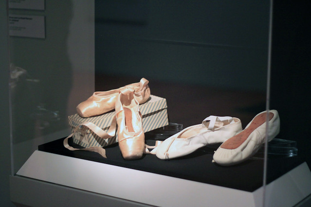 Autographed shoes worn by Margot Fonteyn and Rudolf Nureyev, on loan from ROHCollections in an exhibition at the de Young Museum, San Francisco © Sarah Bailey Hogarty 2012