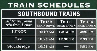 Berkshire Scenic 2011 Schedule