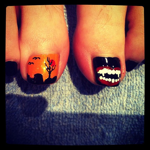Halloween Pedicures Halloween Nail Art