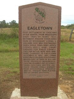Eagletown Historic Marker