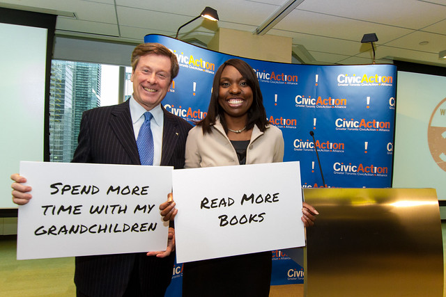 "CivicAction Chair John Tory and CEO Mitzie Hunter share their answers to ""What would you do with 32?"""