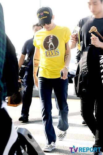 Big Bang - Incheon Airport - 07aug2015 - TV Report - 10