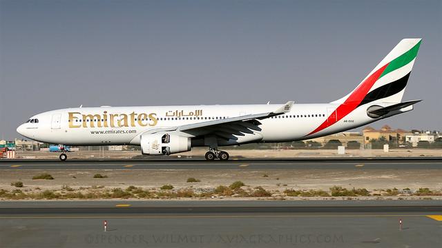 Emirates A330 Reversing At Dubai.