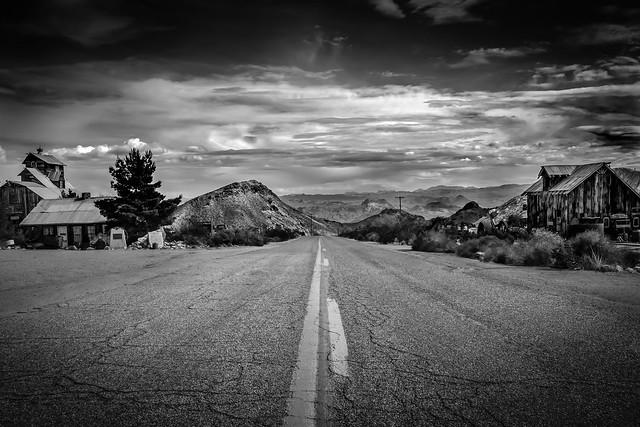Road through Ghost Town, Nevada, USA