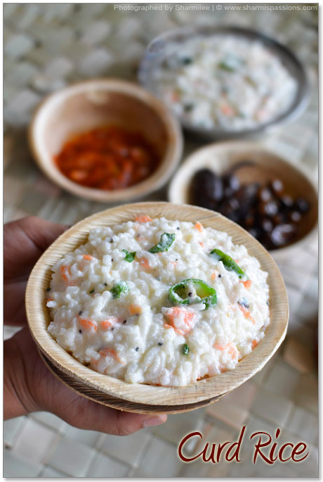 Curd Rice Recipe - Thayir Sadam Recipe | Sharmis Passions