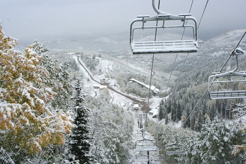 Park City first 6-inch snowfall 2011
