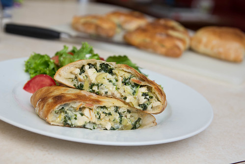 Chicken, Spinach, and Artichoke Calzones