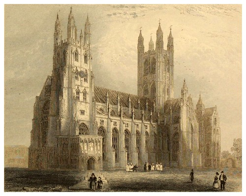 003-Catedral de Canterbury vista sudoeste-Winkles's architectural and picturesque illustrations of the catedral..1836-Benjamin Winkles