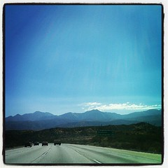 Driving into San Bernardino