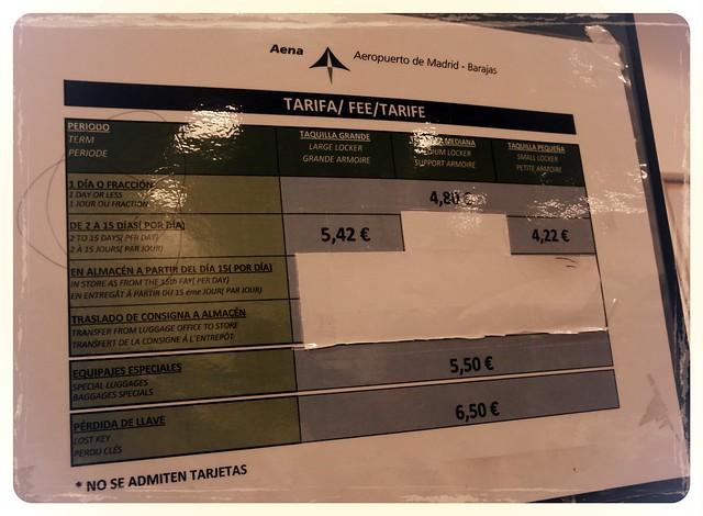 Locker Aeroporto Madri