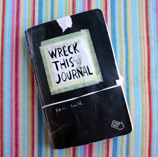 photograph about Wreck This Journal Printable Pages named Destroy This Magazine: a Mom/Son Venture Wendolonia