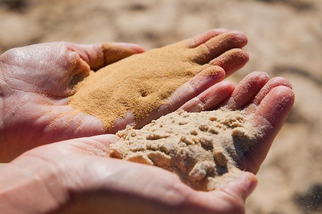 Different sands on Fraser Island