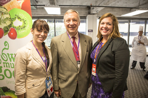 Independent media + politicians + non-profits & activists is what you'll find at #ThePPL (the hub for bloggers and online media at the DNC). Here are The PPL co-founder Desiree Kane, Sen. Dick Durbin & Netroots Nation's Mary Rickles.