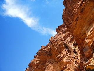 orange rocks, blue sky
