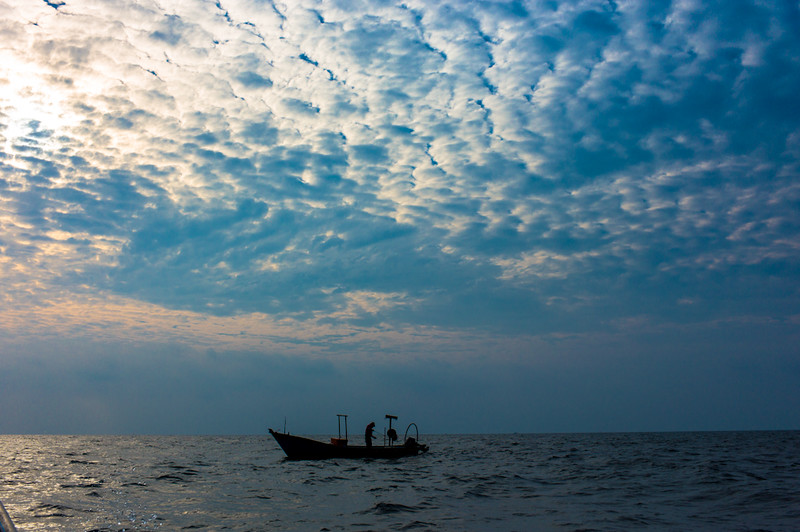 Out in the South China Sea, fishing is a solitary and spiritual activity.