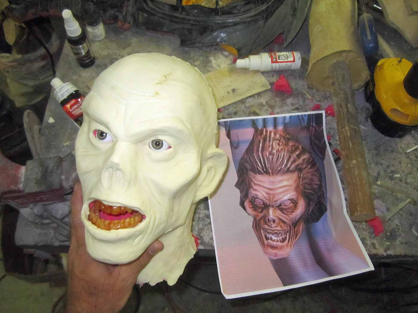 Dead Head Unpainted Latex Cast