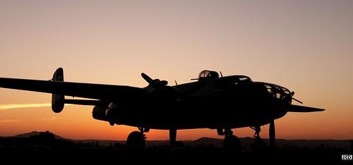 sunset silhouette lowlight wwii ww2 usaf b25 usaaf b25bomber b25mitchell
